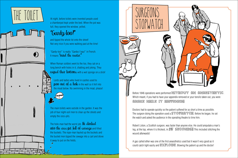 Spread sample of a Book design for a children's science book