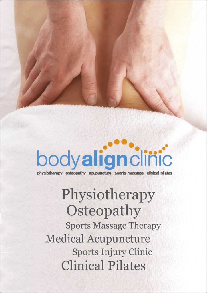 Poster for Body Align Clinic.