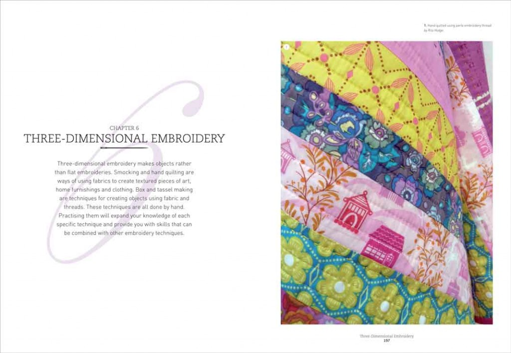 Sample spread from a RotoVision book I worked on called Embroidery