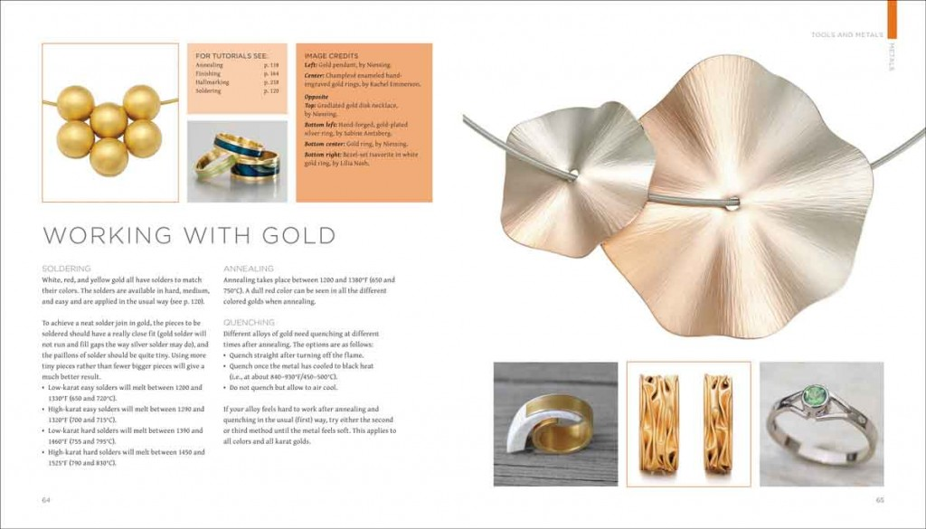 Samples of Book design and layout from a book called Metalsmithing
