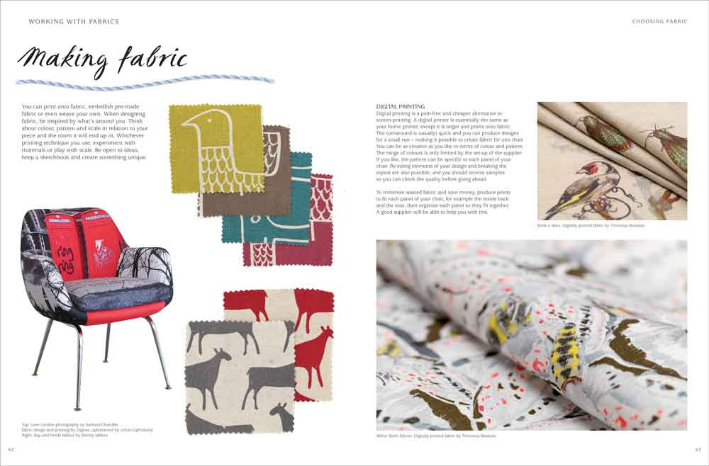 Samples of Book design and layout from a book called Style, Stitch, Staple
