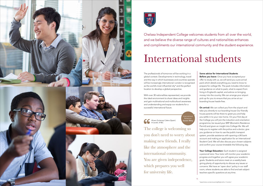 Chelsea Independent College brochure 2017