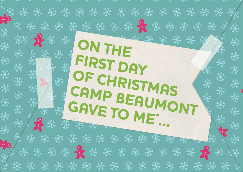 A project to design a Christmas campaign targeting Camp Beaumont's sales agents.