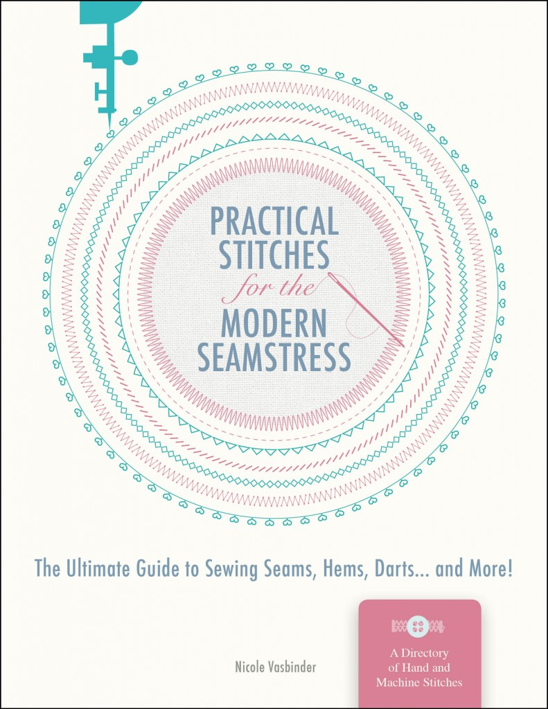 Practical Stitches book cover design concept