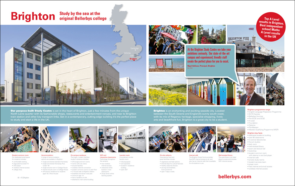 Location spread from the Bellerbys brochure