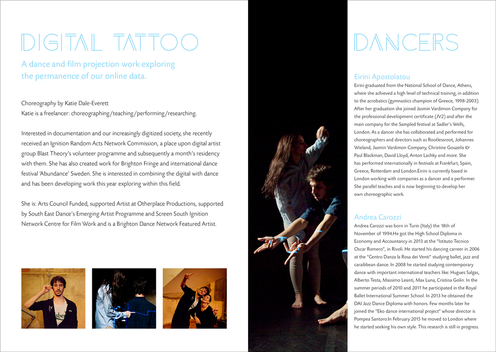 promotional design Digital Tattoo programme