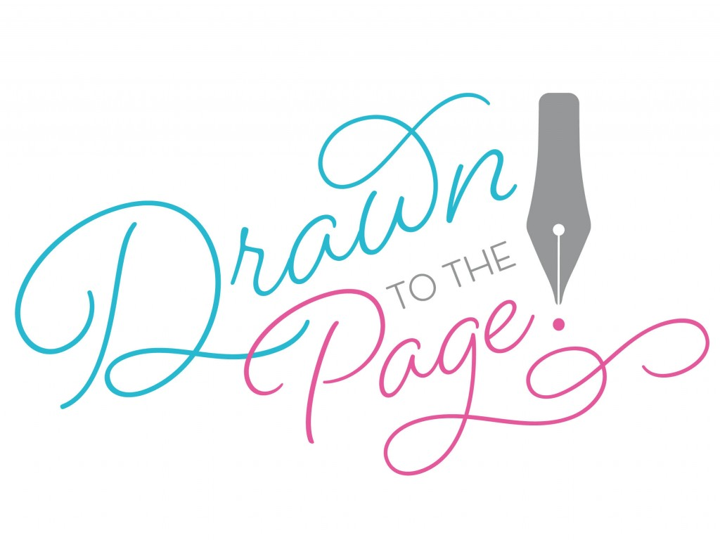 Drawn to the page logo concept