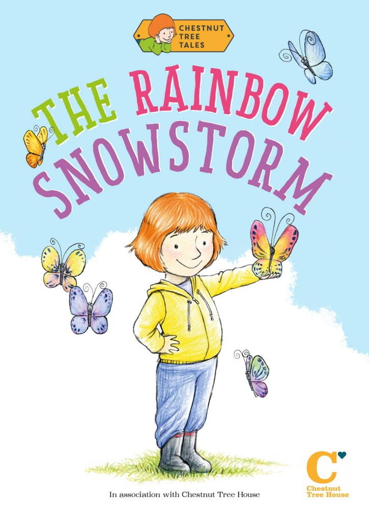 Children's book design for the Rainbow Snowstorm cover