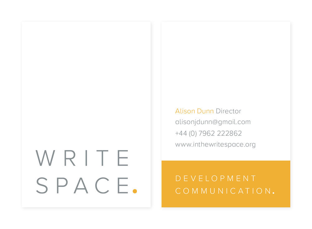 Logo and business card design for Write Space