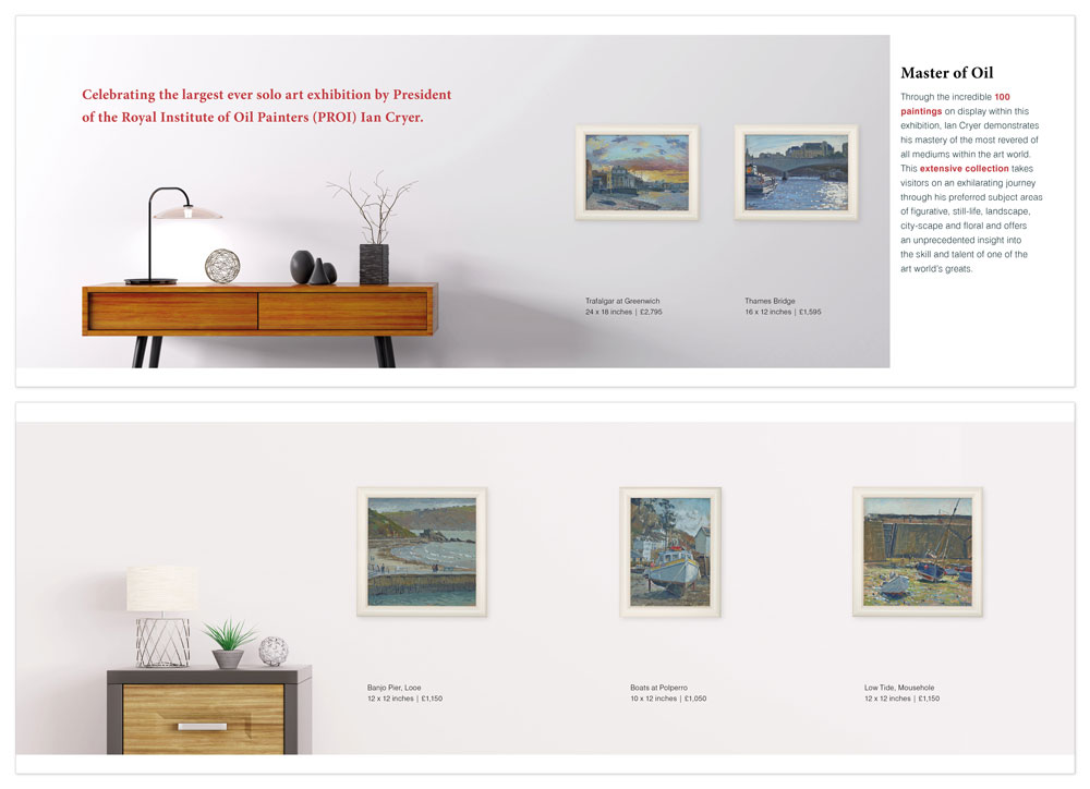 Brighton Graphic designer, layout example for gallery brochures