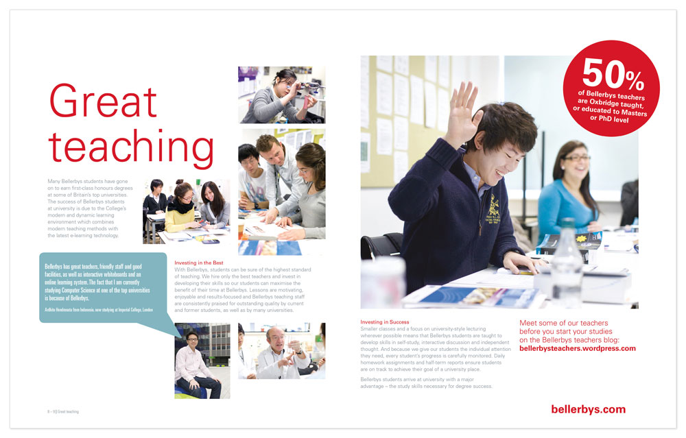 Brighton Graphic designer, layout example educational brochures